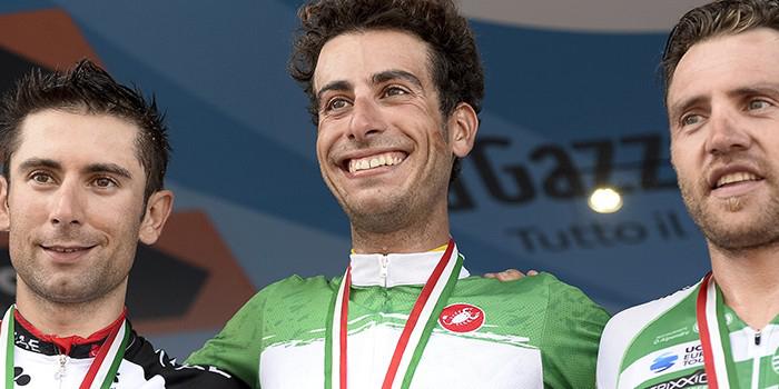 Fabio Aru Tricolore con la maglia di Scarponi